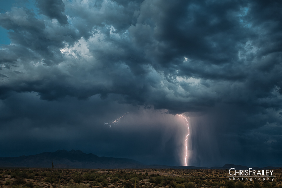 Arizona Desert Lightning