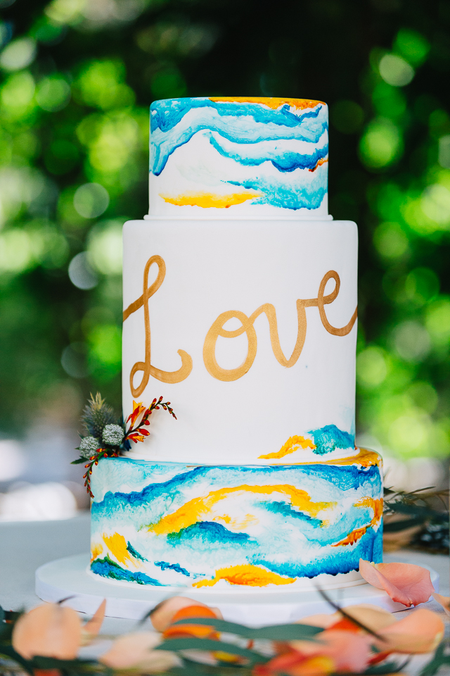 Wedding cake for a styled shoot at the Scottsdale Resort.